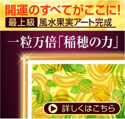 最上級風水果実アート稲穂&ひょうたんイメージサイドバナー